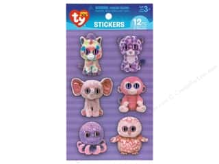 Darice Sticker Beanie Boo Girl Wiggle Eye 12pc