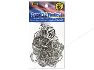 craft & hobbies: Toner Craft Lace Assorted Findings 80 pc. Silver