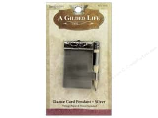 pendants jewelry: Spellbinders A Gilded Life Pendants Dance Card Silver