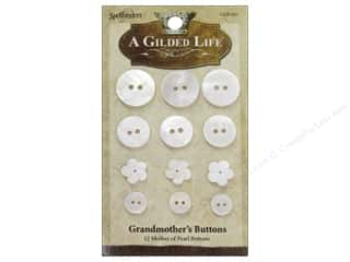 Sew-on Buttons: Spellbinders A Gilded Life Grandmother's Buttons