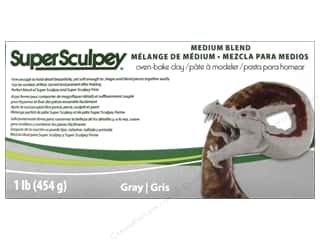 acrylic paint: Super Sculpey Clay 1 lb. Medium Blend Grey