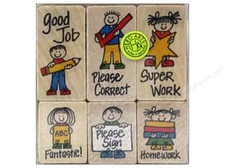 Rubber Stamps: Hero Arts Rubber Stamp Set Kids For Teachers