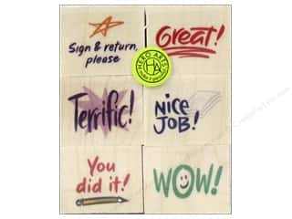 Clearance Art Impressions Rubber Stamp: Hero Arts Rubber Stamp Set Stamp Of Approval