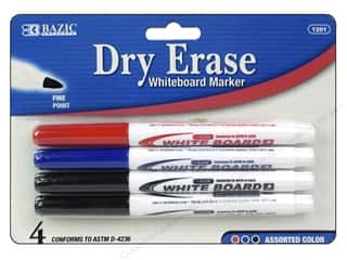 Charts: Bazic Basics Dry Erase Markers 4 pc. Fine Tip Assorted