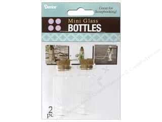 Darice Mini Glass Bottle with Cork Top 2 in. Clear 2 pc.