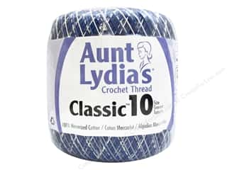 Aunt Lydia's Classic Cotton Crochet Thread Size 10 300 yd. Shaded Blues