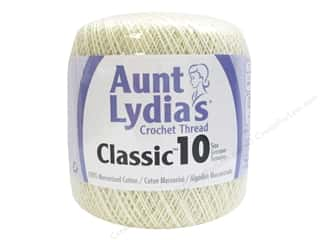 yarn & needlework: Aunt Lydia's Classic Cotton Crochet Thread Size 10 350 yd. Cream