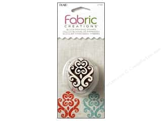 stamps: Plaid Fabric Creations Block Printing Stamp Small Baroque Flourish