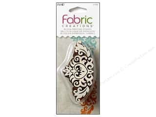 acrylic block: Plaid Fabric Creations Block Printing Stamp Border Baroque