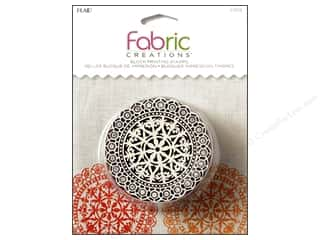 textile medium fabric: Plaid Fabric Creations Block Printing Stamp Medium Lace Doily