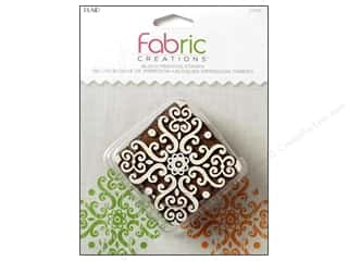 stamps: Plaid Fabric Creations Block Printing Stamp Medium Baroque Medallion
