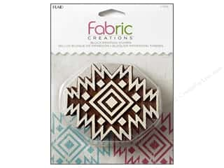 stamps: Plaid Fabric Creations Block Printing Stamp Medium Aztec Tile