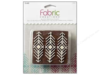 stamps: Plaid Fabric Creations Block Printing Stamp Medium Tribal Arrows