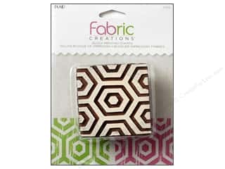 stamps: Plaid Fabric Creations Block Printing Stamp Medium Hex Honeycomb