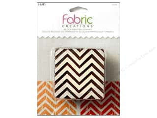 textile medium fabric: Plaid Fabric Creations Block Printing Stamp Medium Chevron