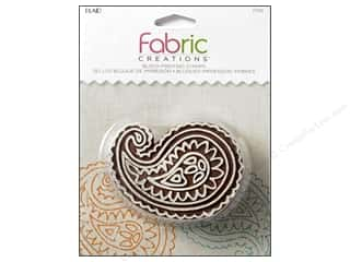 stamps: Plaid Fabric Creations Block Printing Stamp Medium Paisley