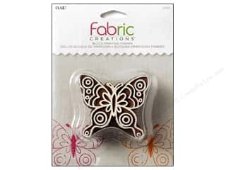 textile medium fabric: Plaid Fabric Creations Block Printing Stamp Medium Doodle Butterfly