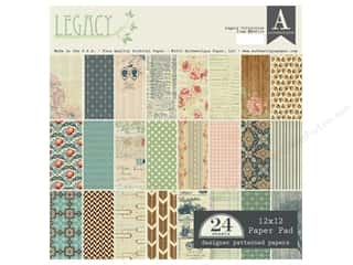 Holiday Sale Designer Papers & Cardstock: Authentique 12 x 12 in. Paper Pad Legacy Collection