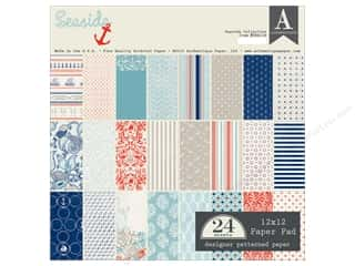 Holiday Sale Designer Papers & Cardstock: Authentique 12 x 12 in. Paper Pad Seaside Collection