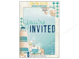 scrapbooking & paper crafts: Bo Bunny Invitations 8 pc. Boardwalk
