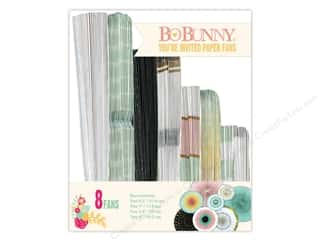 Bo Bunny Paper Fans 8 pc. You're Invited