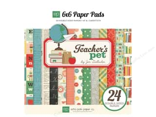 Echo Park Paper Company: Echo Park Paper Pad 6 x 6 in. Teachers Pet