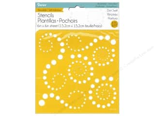 Darice Self Adhesive Stencil 6 x 6 in. Dot Swirls