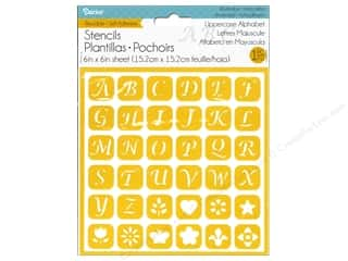 Darice Stencil Self Adhesive 6 x 6 in. Uppercase Alphabet 1
