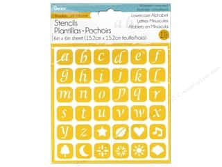 Darice Stencil Self Adhesive 6 x 6 in. Lowercase Alphabet 2