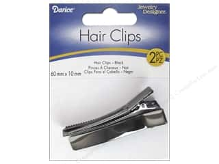 Darice Alligator Hair Clips 2 1/4 in. Gunmetal 2 pc.