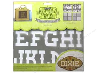 craft & hobbies: DecoArt Alphabet Stencils Between The Lines 12 x 12 in. Saloon