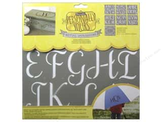craft & hobbies: DecoArt Alphabet Stencils Initial Impressions 12 x 12 in. Sophisticated