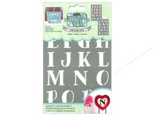 craft & hobbies: DecoArt Alphabet Stencils Urban Ink 6 x 9 in. Sea Dog