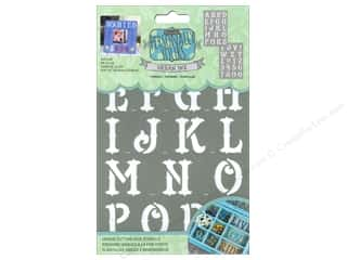craft & hobbies: DecoArt Alphabet Stencils Urban Ink 6 x 9 in. Outlaw