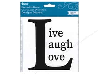 scrapbooking & paper crafts: Darice Decorative Decal 4 3/4 x 5 1/2 in. Live Love Laugh