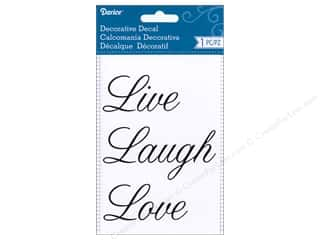 Darice Decorative Decal 3 3/4 x 5 in. Live Love Laugh