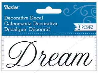 scrapbooking & paper crafts: Darice Decorative Decal 1 3/4 x 4 1/2 in. Dream 3 pc.