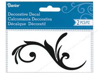 scrapbooking & paper crafts: Darice Decorative Decal 2 1/2 x 5 in. Flourish Vine 2 pc.