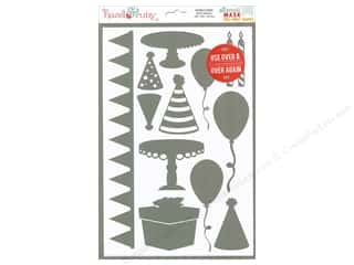 craft & hobbies: Hazel & Ruby Stencil Mask 8 x 12 in. Celebrate Shapes