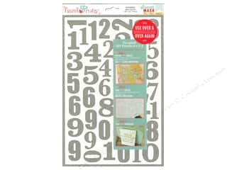 scrapbooking & paper crafts: Hazel & Ruby Stencil Mask 8 x 12 in. Mixed Numbers