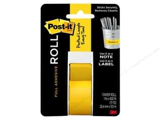 craft & hobbies: Post It Full Adhesive Roll 1 x 400 in. Yellow