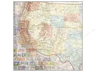 Paper House 12 x 12 in. Paper US Travel Map West (25 sheets)