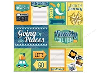 scrapbooking & paper crafts: Paper House 12 x 12 in. Paper Family Vacation Tags (25 sheets)