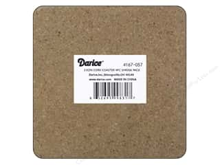 Darice Cork Coaster Set 3 7/8 x 3 7/8 in. 4 pc.
