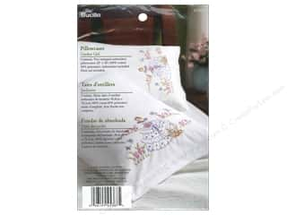 Bucilla Stamped Embroidery Pillowcase Garden Girl