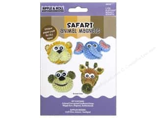 quilling: Quilled Creations Quilling Kit Animal Magnet Safari