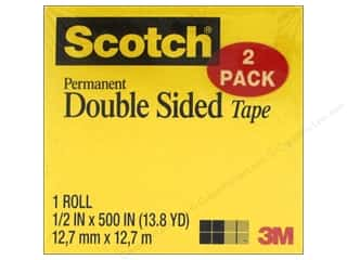 glues, adhesives & tapes: Scotch Tape Double Sided Permanent Refill 1/2 in. x 500 in.  2 pc