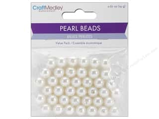 Multicraft Bead Pearl 10mm Ivory 40 pc.