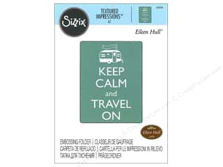 embossing folder: Sizzix Textured Impressions Embossing Folders 1 pc. Keep Calm And Travel On