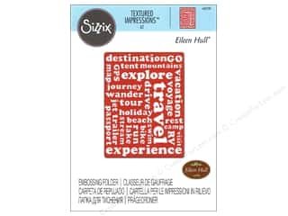 Sizzix Textured Impressions Embossing Folders 1 pc. Travel Words